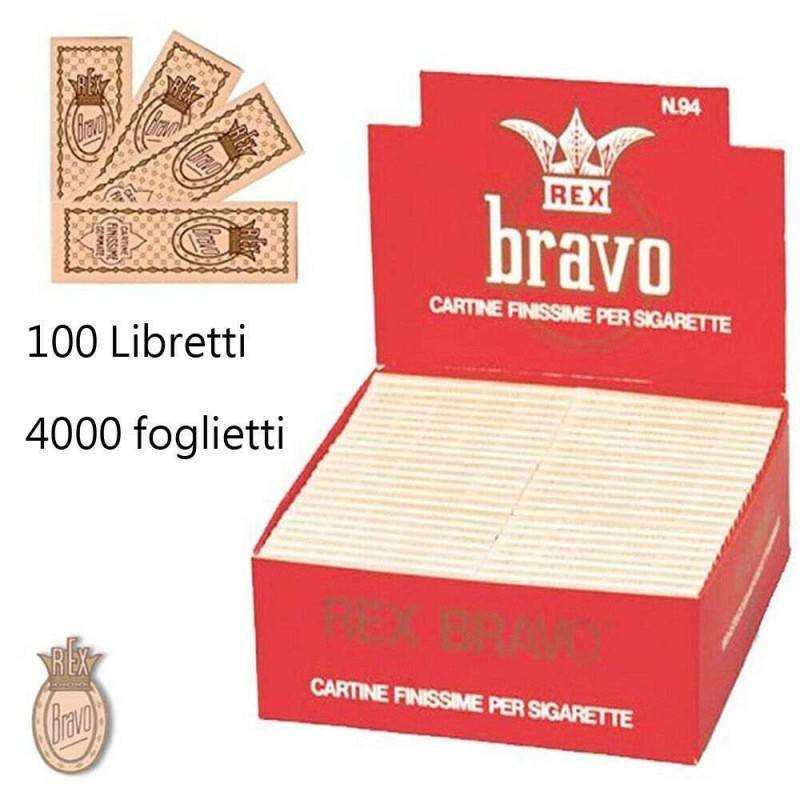 Cartine X Tabacco.Box Sadoch Bravo 100 Libretti 4000 Cartine Corte Rollare Sigarette