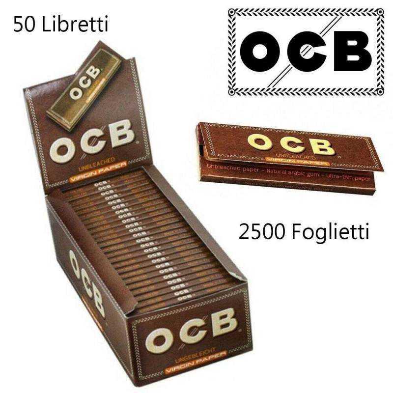 Cartine X Tabacco.Ocb Box Ocb Virgin Paper 50 Libretti 2500 Cartine Corte Rollare Si