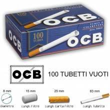 Pacco OCB Tubetti vuoti classici da 83mm tabacco 100 sigarette vuote filtro 15mm