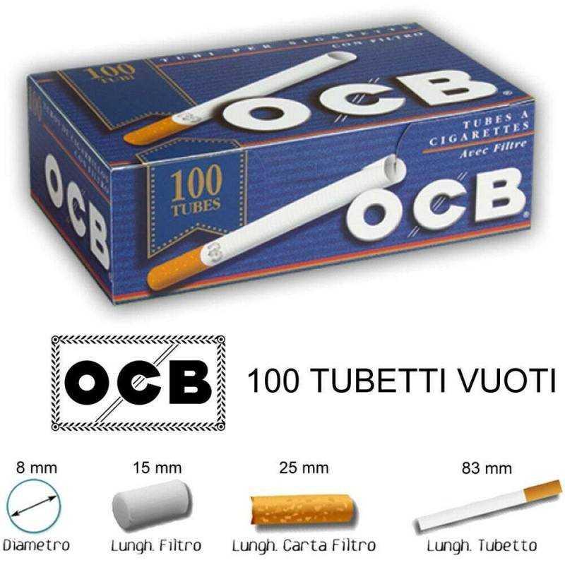 1dc02219c257 Filtri OCB Slim 6 mm lisci sigarette 4080 tabacco 34x confezioni da 120  filtrini
