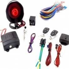 Kit completo antifurto allarme auto universale telecomandi sirena led sensore