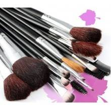 Set da 18 pennelli Make-Up professionali + pochette set Cosmetic Brush trucco