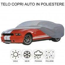Telo copriauto protezione auto intemperie sole pioggia polvere neve poliestere