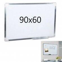 Lavagna magnetica 90x60 bianca cornice alluminio ufficio scuola scrivibile