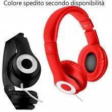 Cuffie stereo con microfono integrato cavo jack con filo headphones 008