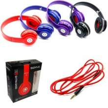 Cuffie stereo extra bass mp3 hd voice cavo aux headphones sy981
