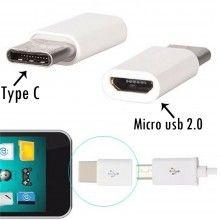 Adattatore da micro usb 2.0 a type C TIPO C 3.1 compatibile smartphone huawei P10 P20