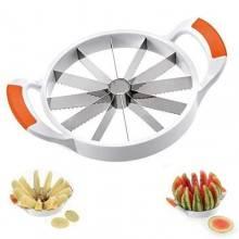 Taglia affetta melone e anguria cocomero lama in acciaio 12 fette affetta frutta - 17.5 cm o 22 cm di diametro