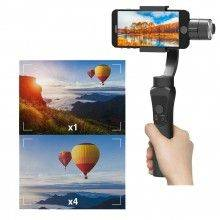 Stabilizzatore smartphone immagini foto video movimenti impugnatura ergonomica