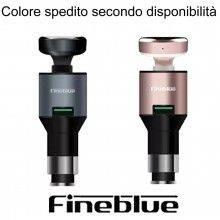 Auricolare bluetooth vivavoce Fineblue auto caricabatterie F-458 orecchio guida sicurezza stradale