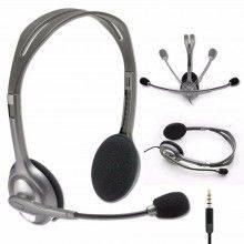 Cuffie LOGITECH per PC con microfono cavo jack 3.5 mm H110 stereo audio