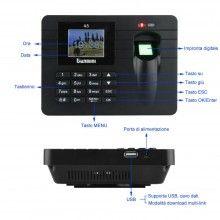 Marcatore tempo ufficio palestra impronta digitale scanner biometrico badge USB