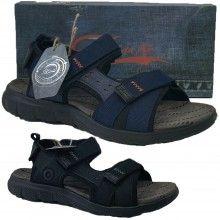 Scarpe uomo JOMIX sandali leggeri chiusura a strappo punta aperta BLU o NERO estate SU0257