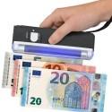 Lampada ultravioletti UV WOOD portatile controllo rilevatore anti contraffazione banconote