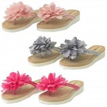 Infradito Jomix casual ciabatte donna vari colori con fiore sulla fascia scarpe estive mare spiaggia SD0097