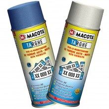 Bomboletta spray Macota rinnovo targhe colore Blu Bianco manutenzione vernice