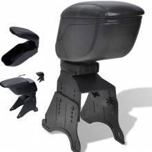 Bracciolo universale reclinabile poggia braccio portaoggetti per automobili nero simil pelle