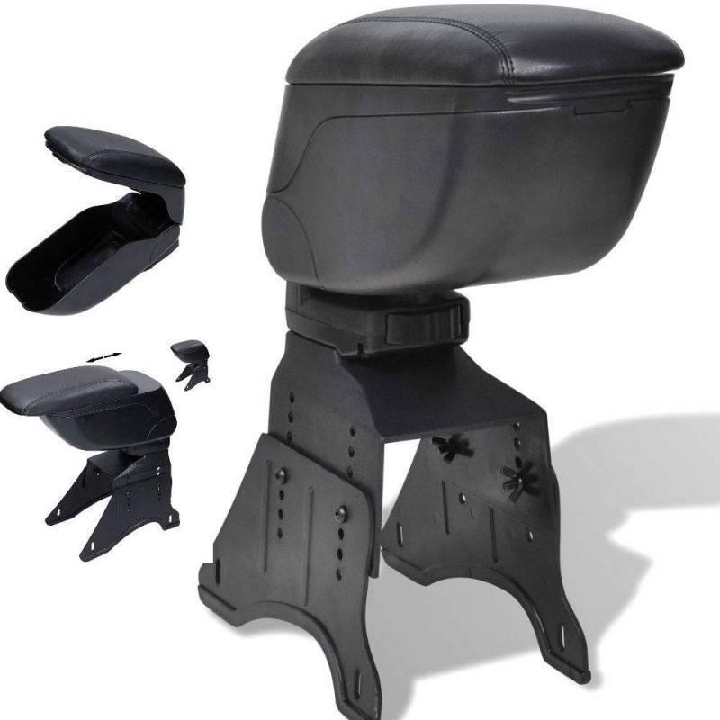 Bracciolo universale poggia braccio portaoggetti per automobili nero simil pelle