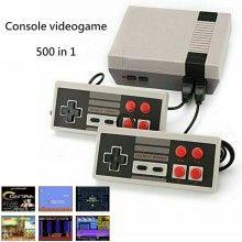 Console videogame retro 500 in 1 2 joypad videogioco portatile TV giochi vintage