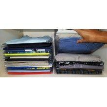 Organizzatore t-shirt organizer ordina magliette armadio valigia viaggi casa 10x