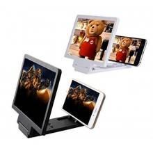 Cornice lente d'ingrandimento 7,5 pollici allarga schermo 3D per smartphone fino a 3x zoom. COLORE NERO.