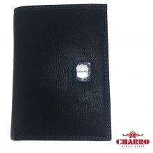 Portafoglio uomo NERO carte credito CHARRO banconote antifurto 944489 lucido