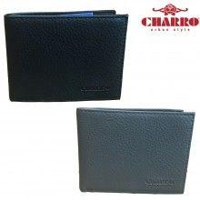 Portafoglio uomo NERO GRIGIO carte credito CHARRO 1834292 banconote antifurto