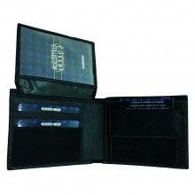 Portafoglio NERO carte credito portamonete banconote documenti 515292 COVERI