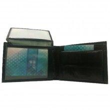Portafoglio uomo NERO carte monete CHARRO banconote documenti 942250 vera pelle