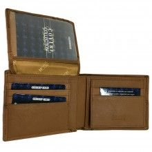 Portafoglio MARRONE carte credito portamonete banconote documenti 689288 COVERI