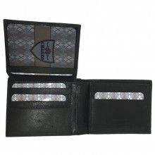 Portafoglio NERO carte credito portamonete banconote documenti 878288 CHARRO