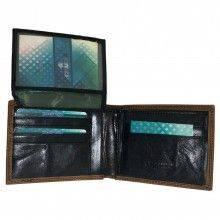 Portafoglio CUOIO carte di credito portamonete banconote documenti 942288