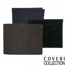 Portafoglio uomo carte di credito COVERI banconote 515872 blu nero marrone soldi
