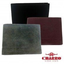 Portafoglio uomo carte di credito CHARRO banconote 847250 soldi antifurto colori