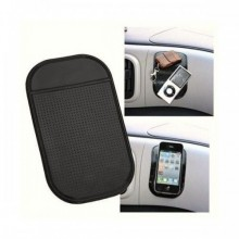Tappetino in silicone nero antiscivolo adesivo per cruscotto porta reggi oggetti per cellulare smartphone mp3