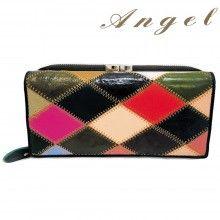 Portafoglio DONNA 8279 fantasia a ROMBI multicolore tessere carte monete ANGEL