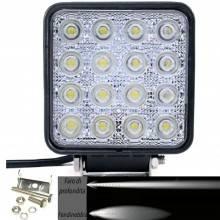 Faro di profondità da lavoro LED proiettore luce anabbagliante capote faretto offroad Truck Jeep Auto Barca Suv (48W Quadrato)