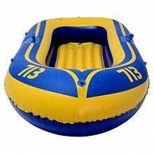 Canotto gonfiabile 1 persona PVC max 90KG gommone giallo blu bambini mare acqua