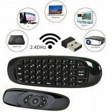 Telecomando tastiera wireless per PC android smart tv compatibile windows mac