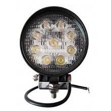 Faro di profondità da lavoro LED proiettore luce anabbagliante capote faretto offroad Truck Jeep Auto Barca Suv (27W Rotondo)