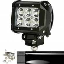 Faro di profondità da lavoro LED proiettore luce anabbagliante capote faretto offroad Truck Jeep Auto Barca Suv (18W Ovale)