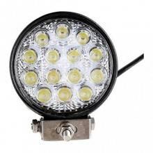 Faro di profondità da lavoro LED proiettore luce anabbagliante capote faretto offroad Truck Jeep Auto Barca Suv (42W Rotodno)