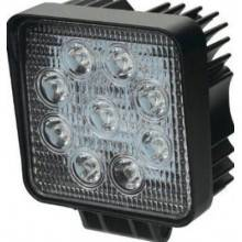 Faro di profondità da lavoro LED proiettore luce anabbagliante capote faretto offroad Truck Jeep Auto Barca Suv (27W Quadrato)