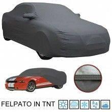 Telo copriauto FELPATO protezione auto intemperie sole pioggia polvere neve TNT