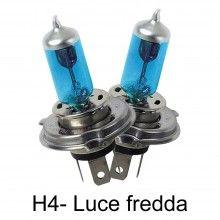 Coppia lampade lampadine Alogene auto H4 12V 60 55W colore luce BIANCA fari HID