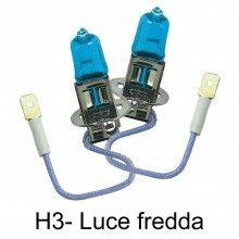 Coppia lampade lampadine Alogene auto H3 12V 100W colore luce BIANCA fari HID