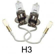 Coppia lampade lampadine Alogene auto H3 12V 100W fari HID macchina ricambio