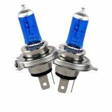 Coppia lampade lampadine Alogene auto H4 12V 100 90W colore luce BIANCA fari HID