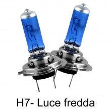 Coppia lampade lampadine Alogene auto H7 12V 100W colore luce BIANCA fari HID