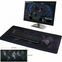 NUOVO Mousepad tappetino 70x30cm XXL Planisfero mouse tappeto PC game Laptop